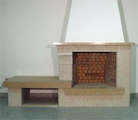 Chimeneas de obra modernas chimenea cobre decoracion chimeneas modernas chimenea diseo - Chimeneas de pared modernas ...