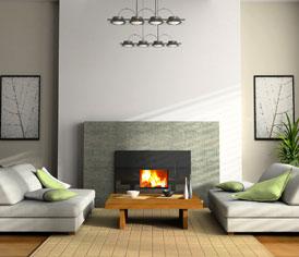chimenea modernacon recuperador de calor moderna con cajn moderna con marco de mrmol - Chimenea Moderna